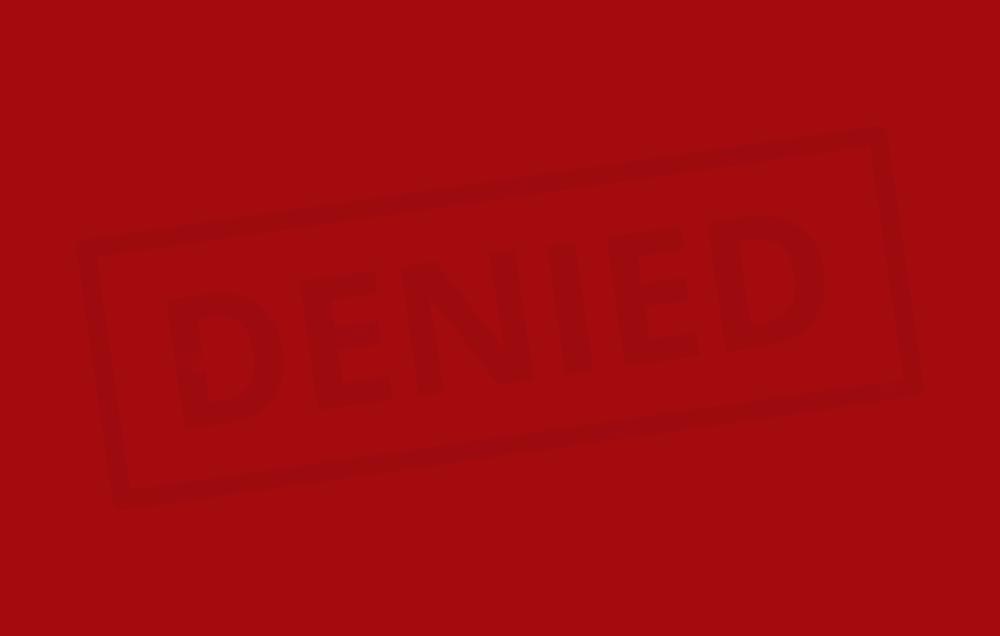 denied graphic