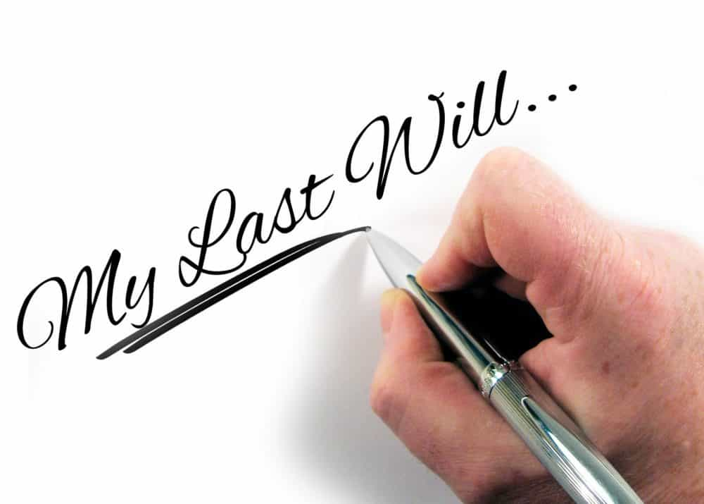 person writing their will