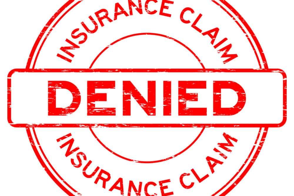 Insurance claim denied graphic
