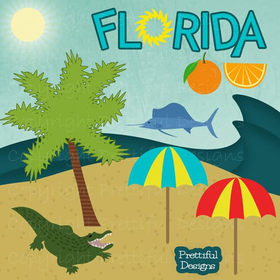 Florida beach clip art