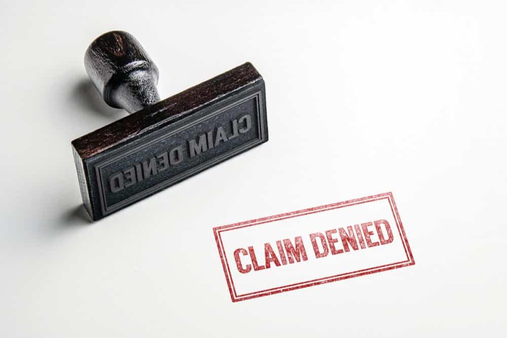 claim denied stamp graphic